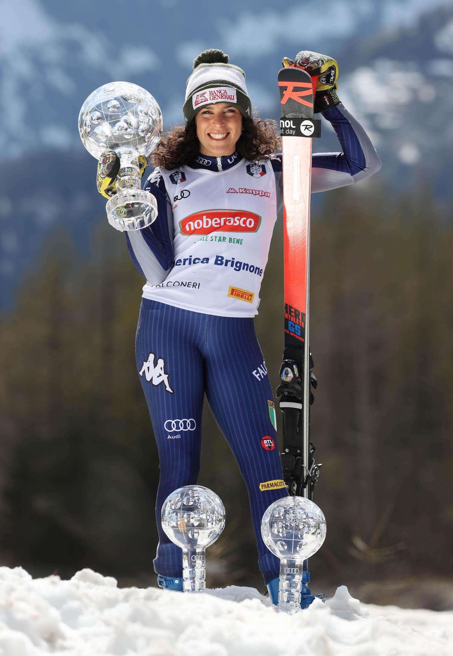 SKI WORLD CUP 2019/2020- Federica Brignone vincitrice della Coppa del mondo generale. Val ferret, Italia, 6-05-2020 photo:Alessandro Trovati/Pentaphoto.
